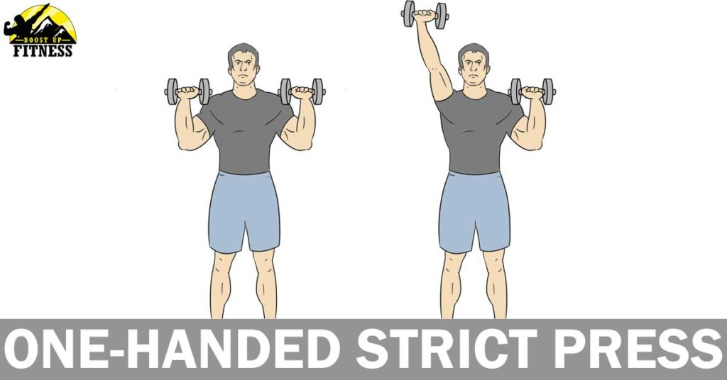 One handed strict press