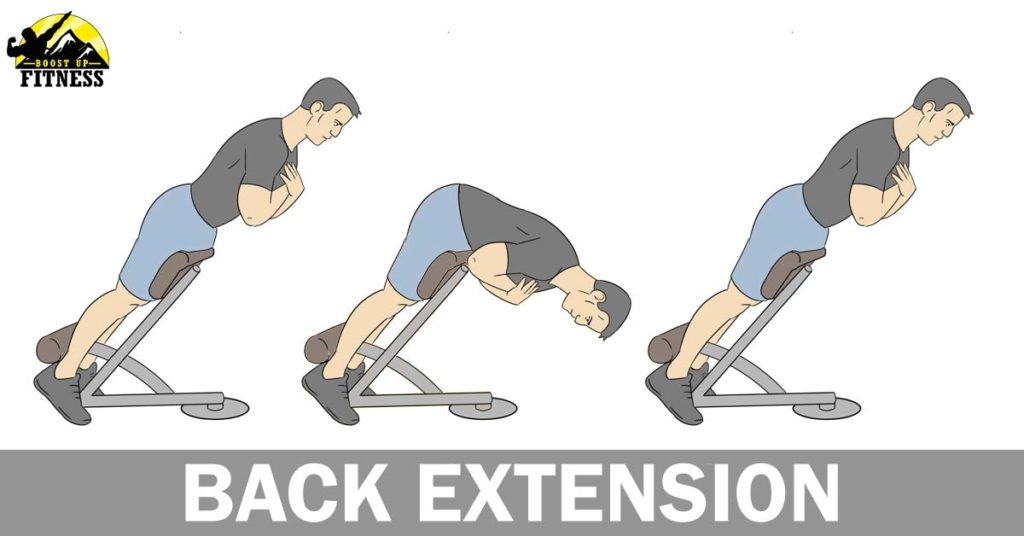 Lower back exercise called the back extension