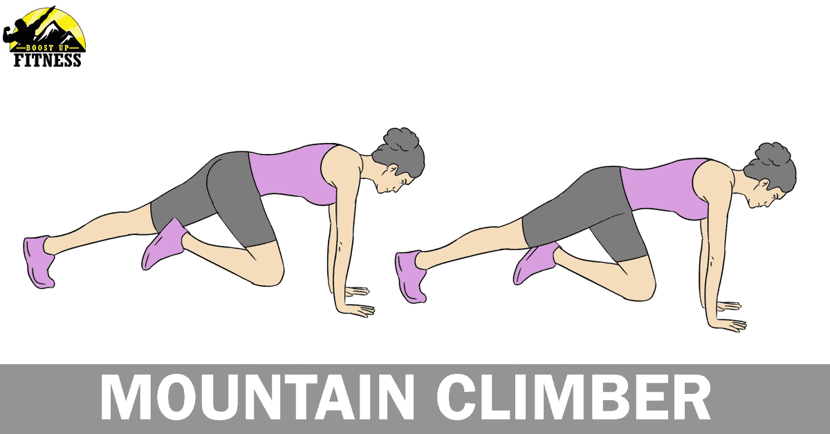Mountain climber ab exercise