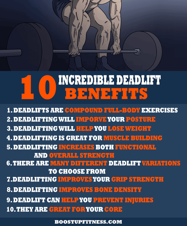 10 deadlift benefits infographic