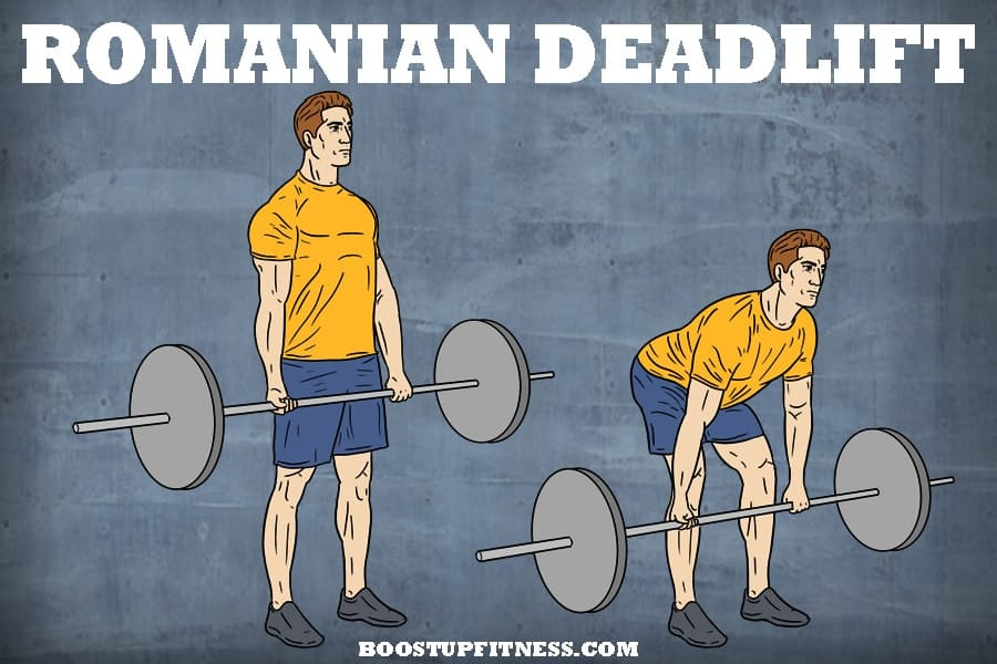 Romanian deadlift for glutes