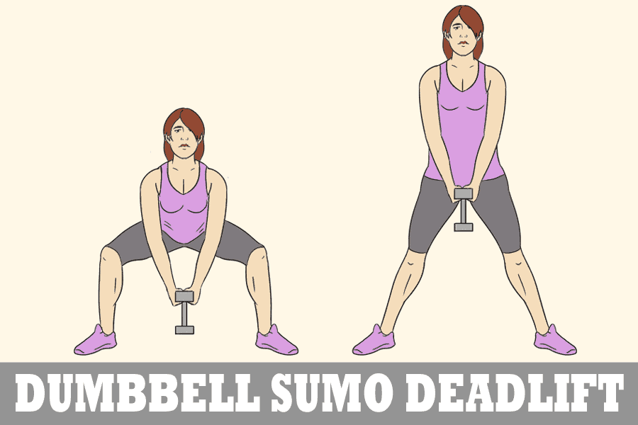 Dumbbell sumo deadlift