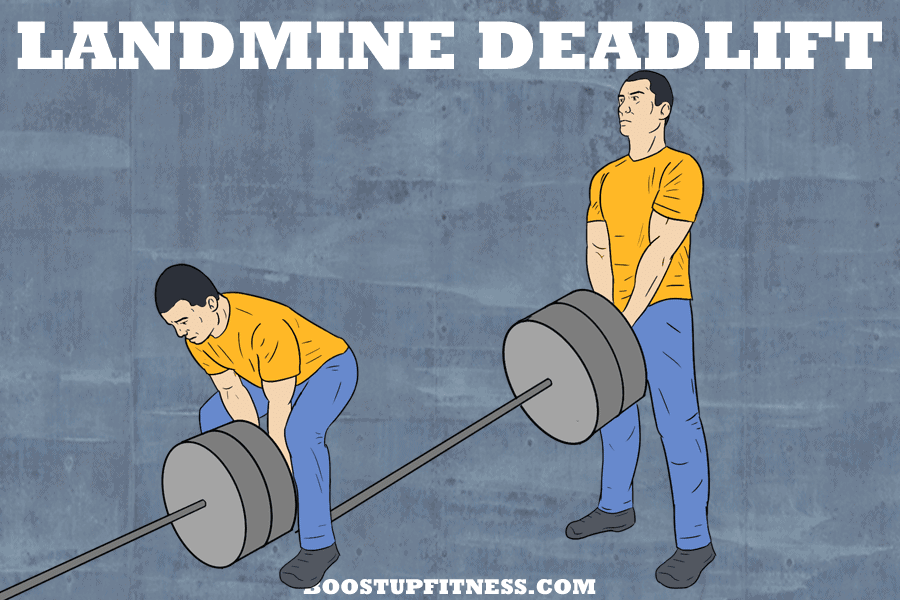 landmine deadlift for glutes