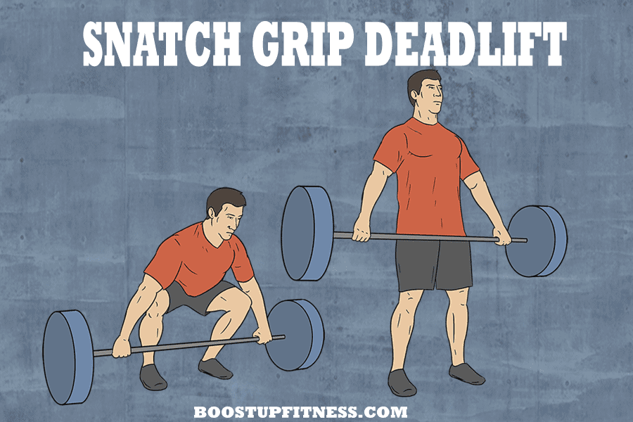 snatch grip deadlift variation