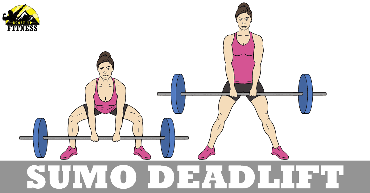 Sumo deadlift variation