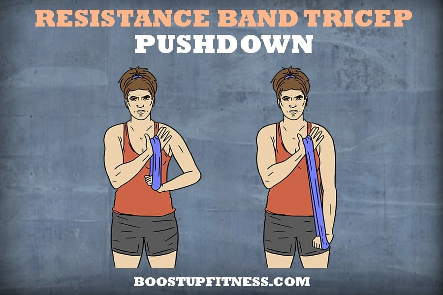 Resistance band tricep pushdown