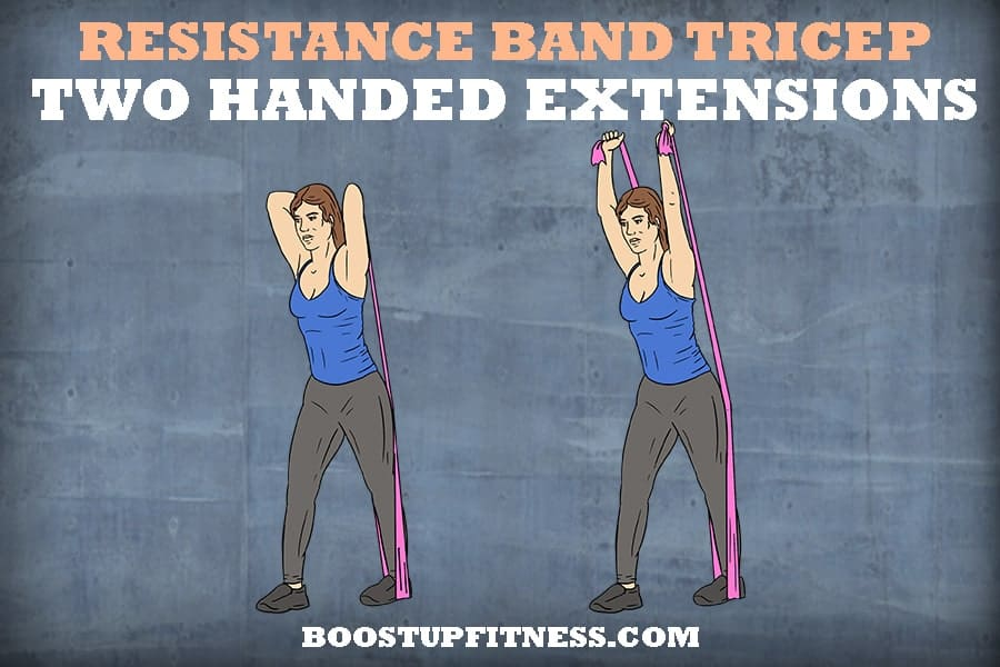 resistance band two handed extensions