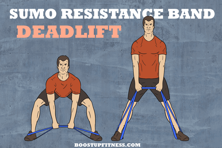 sumo resistance band deadlift