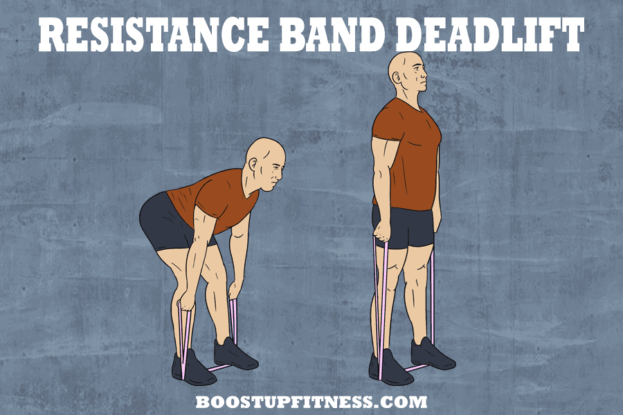 Resistance band exercises- the deadlift