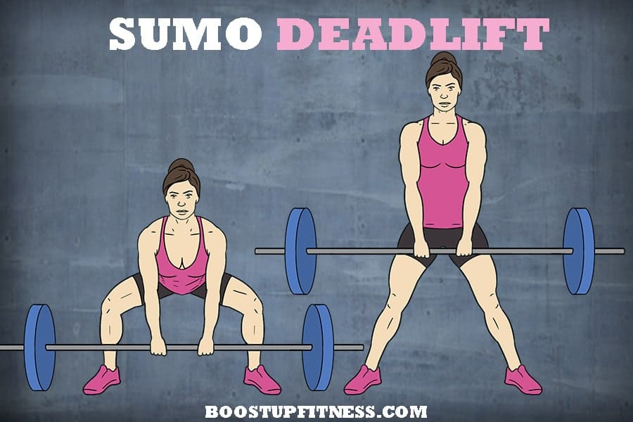 Sumo deadlift for glutes