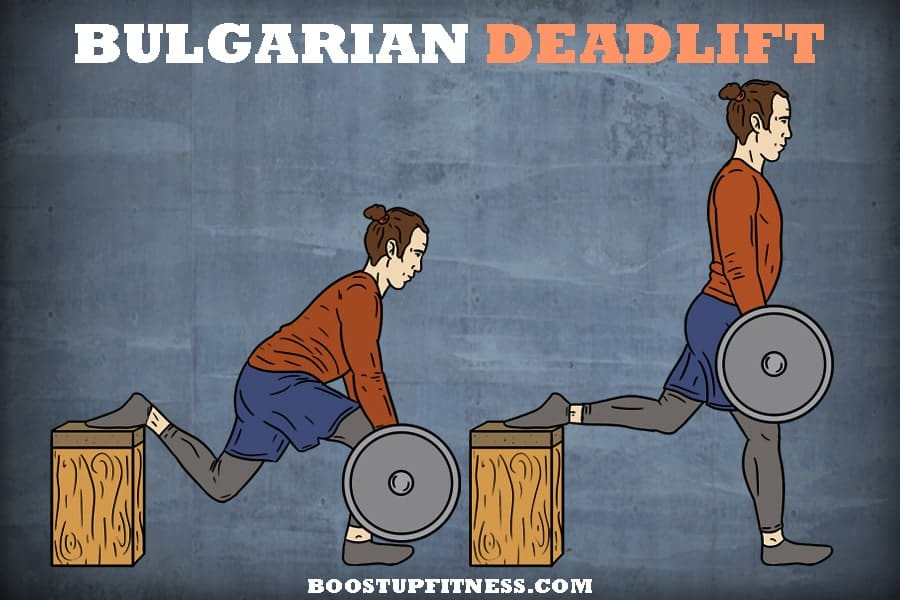 Bulgarian deadlift for glutes