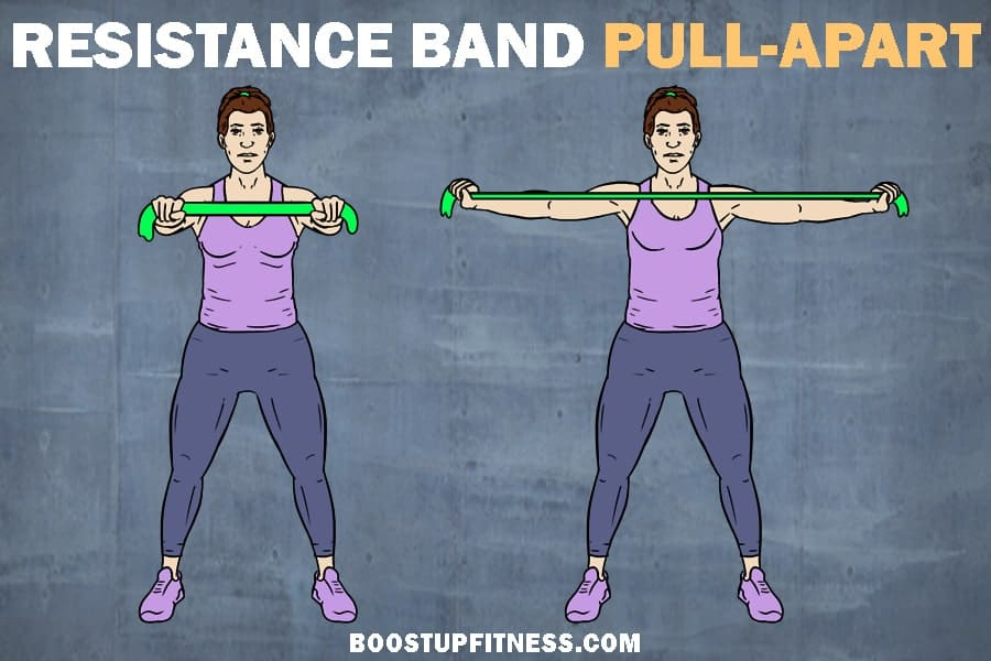 Resistance band exercise- pull apart