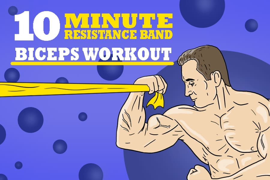 resistance band bicep workout