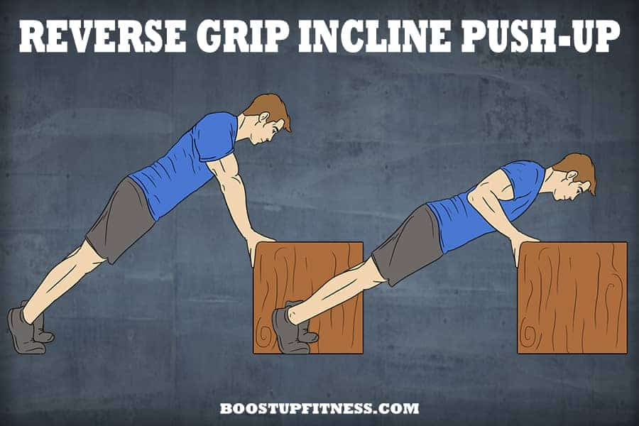 Reverse grip incline push up
