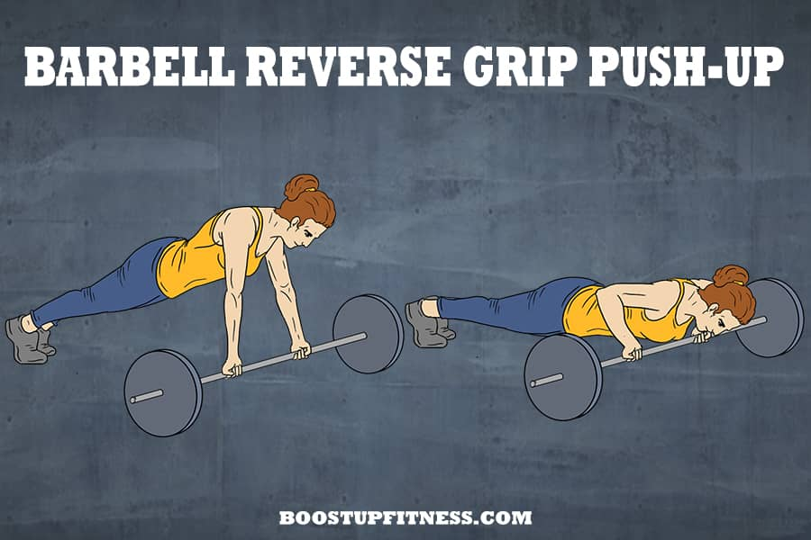 barbell reverse grip push up